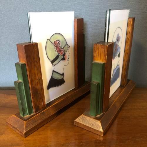 Pair of 1930s Art Deco Oak Photograph Frames image-6