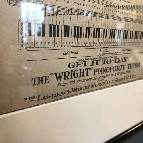 Original Sheet Music Advert for  the Wright Pianoforte Tutor image-3
