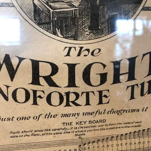Original Sheet Music Advert for  the Wright Pianoforte Tutor image-4