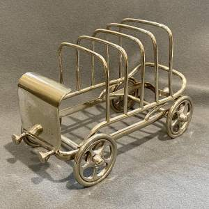 Late 19th Century Silver Plated Novelty Car Toast Rack