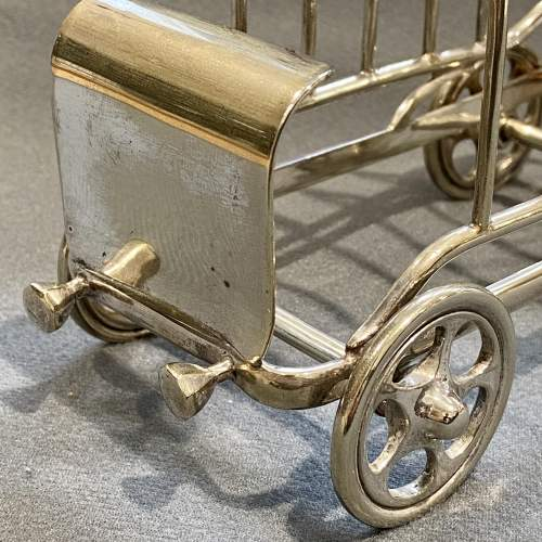 Late 19th Century Silver Plated Novelty Car Toast Rack image-4