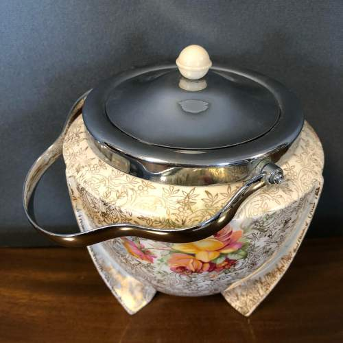 Art Deco AJ Wilkinson Torpedo Design Conical Biscuit Barrel image-2