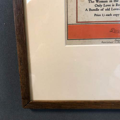 Framed Original Sheet Music Cover Should I - What Price Melody image-4