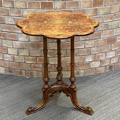 Late 19th Century Burr Walnut Occasional Table image-1