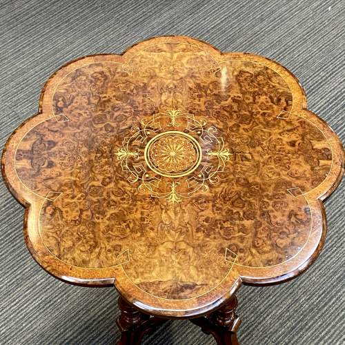Late 19th Century Burr Walnut Occasional Table image-2