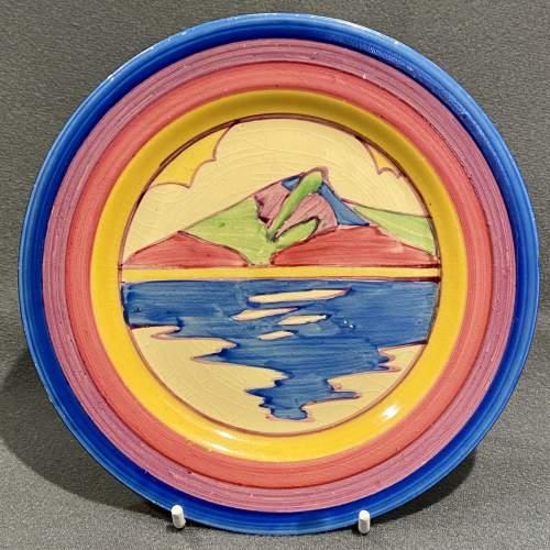 Clarice Cliff Bizarre Gibraltar Pattern Tea Plate image-1