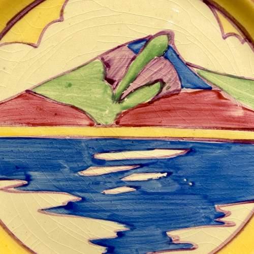 Clarice Cliff Bizarre Gibraltar Pattern Tea Plate image-2