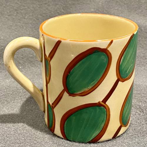Clarice Cliff Umbrellas and Rain Pattern Coffee Can and Saucer image-2