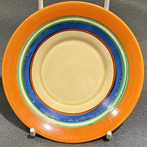 Clarice Cliff Umbrellas and Rain Pattern Coffee Can and Saucer image-3