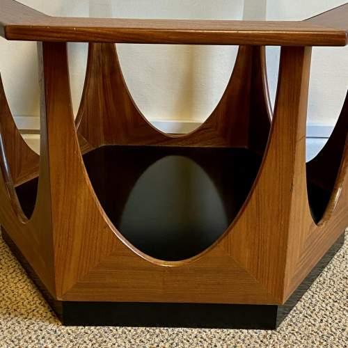 1960s G-Plan Glass Topped Hexagonal Teak Table image-3