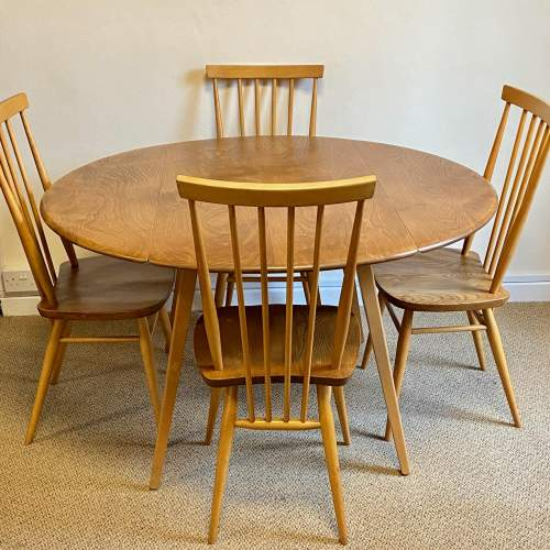 Ercol Five Piece Dining Table and Chairs image-1