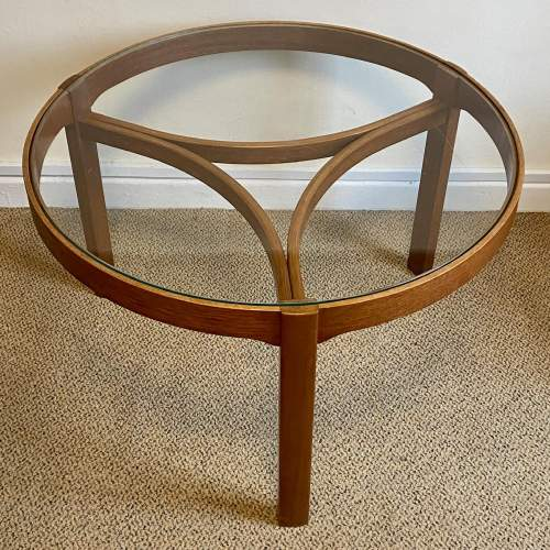 G-Plan Cicular Glass Topped Teak Nest of Tables image-3