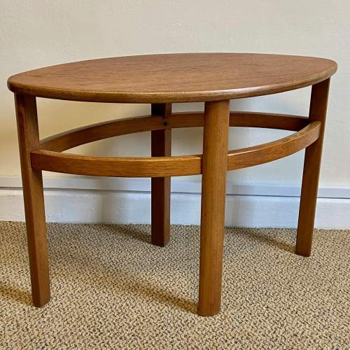 G-Plan Cicular Glass Topped Teak Nest of Tables image-4