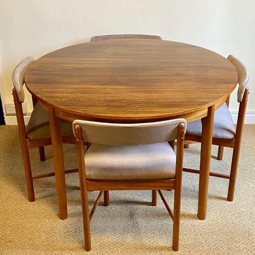 1970s McIntosh Five Piece Teak and Sapele Dining Suite image-1