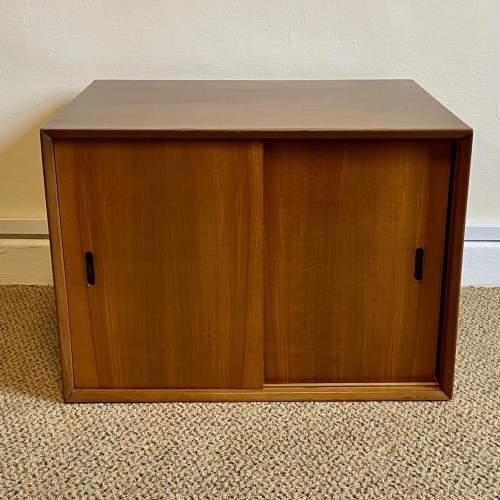 1950s Walnut Veneered L.P. Cabinet image-2