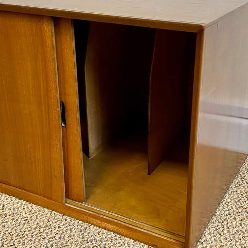 1950s Walnut Veneered L.P. Cabinet image-3