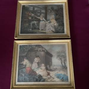 Pair of Late 18th Century Coloured Prints