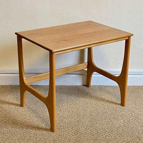 Mid 20th Century Nest Of Three Teak and Beech Tables image-3