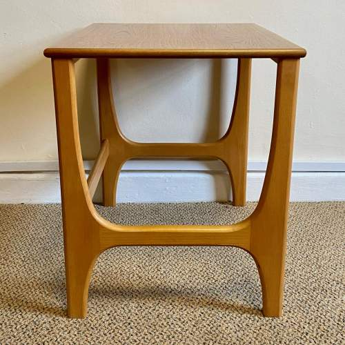 Mid 20th Century Nest Of Three Teak and Beech Tables image-4