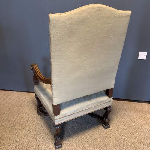 Pair of 19th Century Carved Walnut French Armchairs image-6