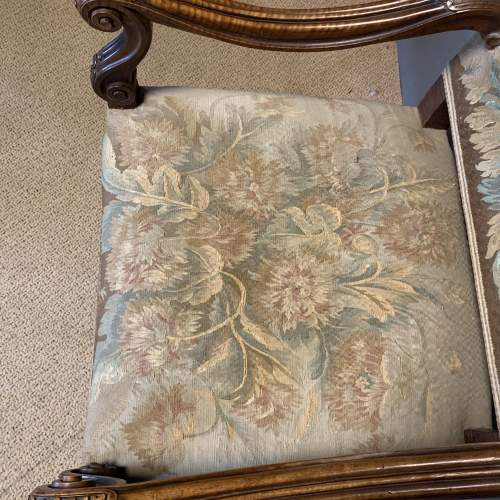 Pair of 19th Century Carved Walnut French Armchairs image-5