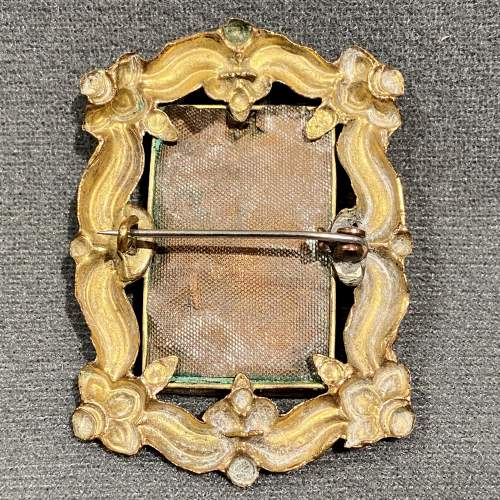 19th Century Porcelain Brooch image-4