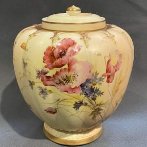 Early 20th Century Large Royal Worcester Lidded Vase