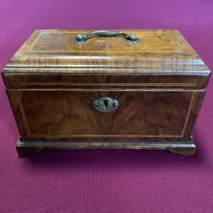 18th Century Walnut Tea Caddy