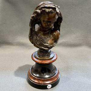 Quality Bronze Bust of a Lady on a Marble Base