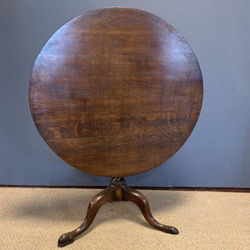 George III Oak Tilt Top Tripod Table image-3
