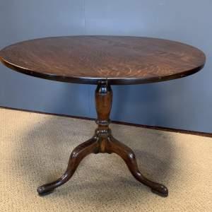 George III Oak Tilt Top Tripod Table