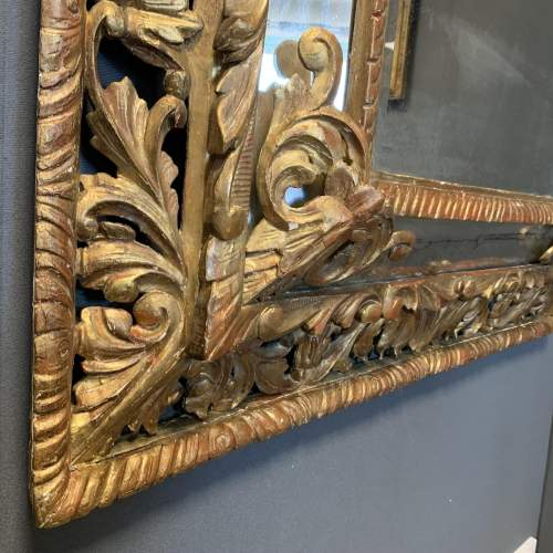 French Carved And Gilded Cushion Mirror image-4