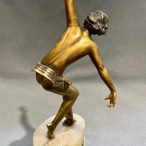 Art Deco 1930s Cold Painted Bronze Dancer Figure image-3