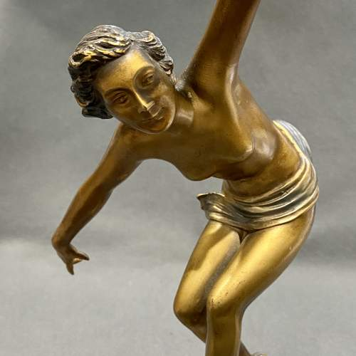 Art Deco 1930s Cold Painted Bronze Dancer Figure image-2