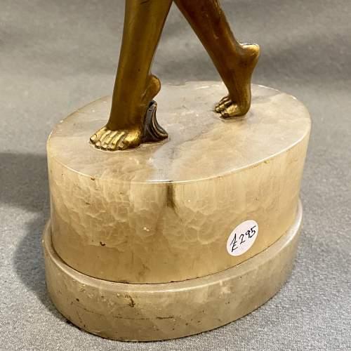 Art Deco 1930s Cold Painted Bronze Dancer Figure image-4