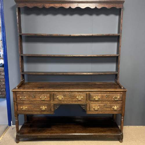 18th Century Oak Dresser with Rack image-1