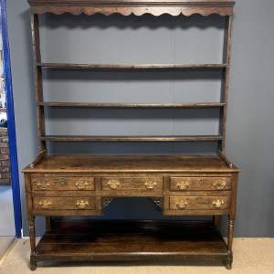 18th Century Oak Dresser with Rack