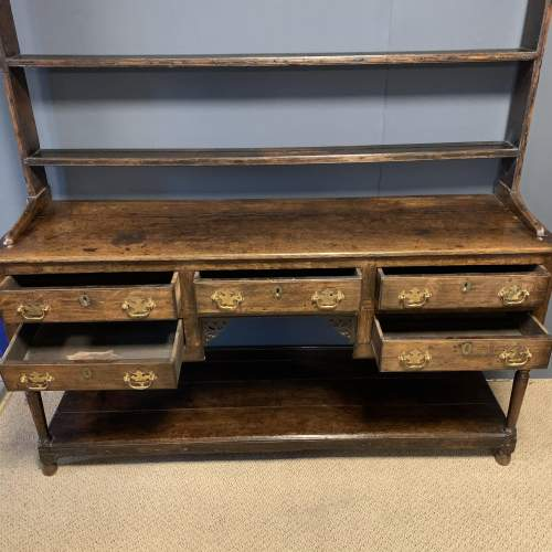 18th Century Oak Dresser with Rack image-2