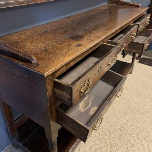 18th Century Oak Dresser with Rack image-3
