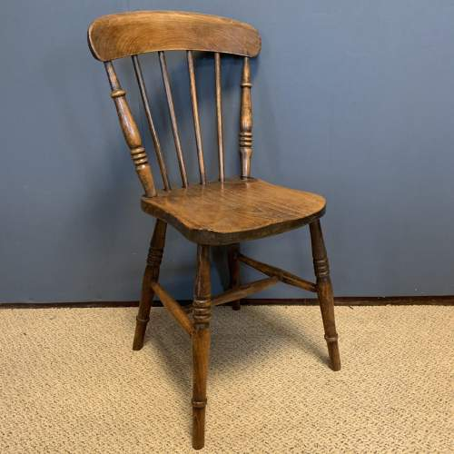 Set of 8 Lincolnshire 19th Century Ash & Elm Kitchen Chairs image-2