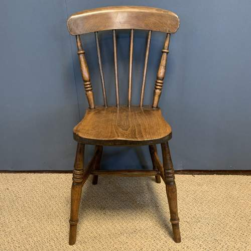 Set of 8 Lincolnshire 19th Century Ash & Elm Kitchen Chairs image-3