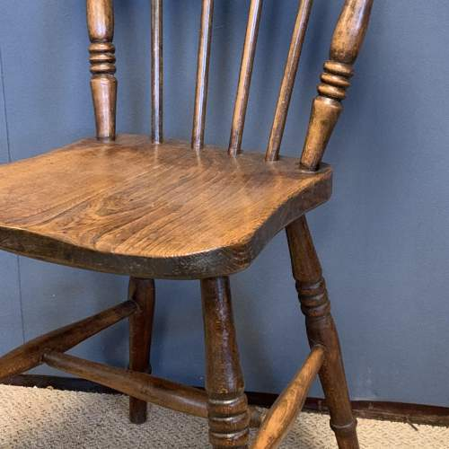 Set of 8 Lincolnshire 19th Century Ash & Elm Kitchen Chairs image-5