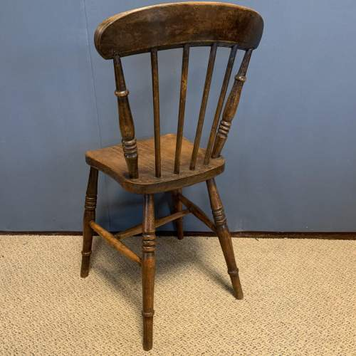 Set of 8 Lincolnshire 19th Century Ash & Elm Kitchen Chairs image-4