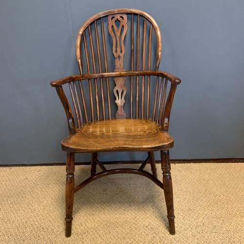 Rare Yew Wood Windsor Chair image-2