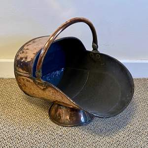 19th Century Copper Coal Helmet