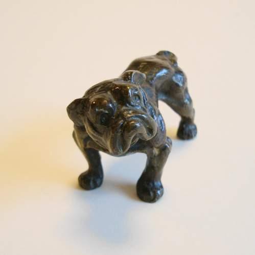 Victorian Cast Bronze Bull Dog image-1