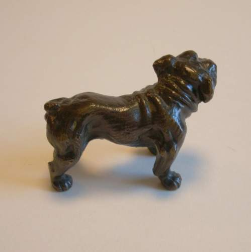 Victorian Cast Bronze Bull Dog image-3