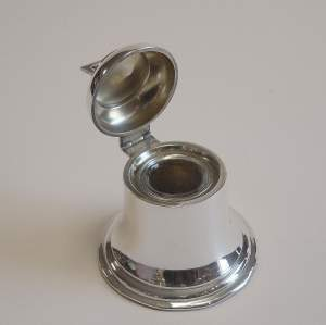 Antique Silver Bell Inkwell