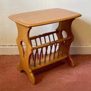Ercol Magazine Rack and Table