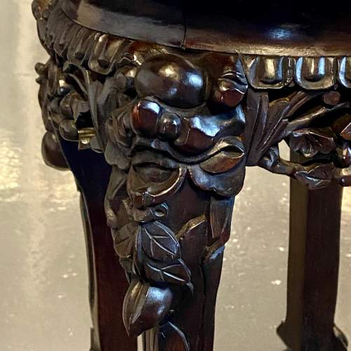Early 20th Chinese Hardwood Jardiniere Stand image-3